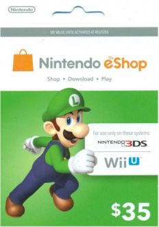 Nintendo Prepaid Card US$35 for US network only (email ship)