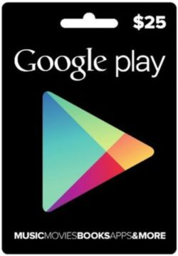 Google Play Card (US$25 / for US accounts only)