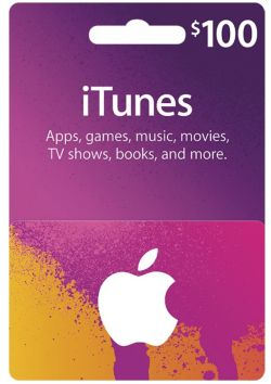 iTunes Card US$ 100 for US accounts only (email shipping)