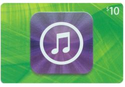 iTunes Card US$ 10 for US accounts only (email freeshipping)
