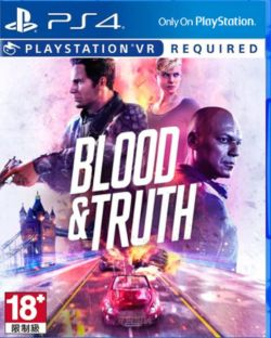 Blood & Truth VR Game AS Chinese/English PS4