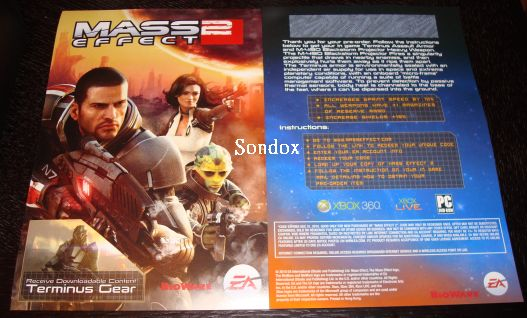 XBOX360/PC Mass Effect 2 DLC card code (email freeshipping)